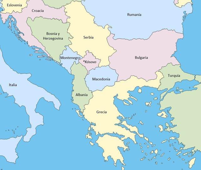 paises de los balcanes